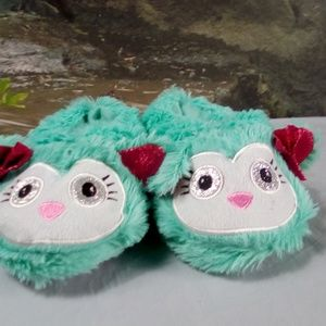Other - Green Cute Cat silver eyed slippers by Swiggles